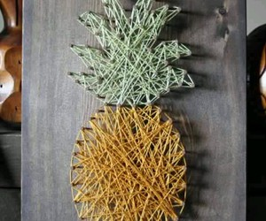 diy, pineapple, and decoration image