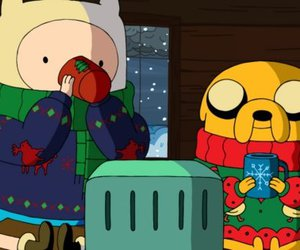 at, adventure time, and jake the dog image