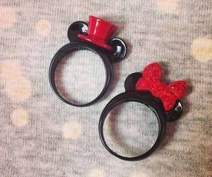 rings, mickey, and minnie image