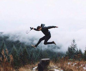 nature, boy, and jump image