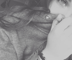 black and white, girl, and grunge image