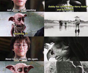 harry potter, dobby, and hogwarts image