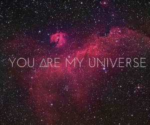 universe, love, and galaxy image