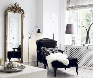 interior, luxury, and mirror image