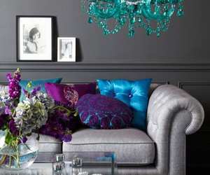 purple, blue, and decor image
