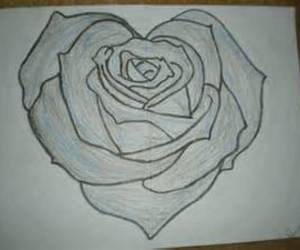 heart, white, and black image
