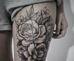 black, flower, and inspiring image