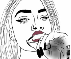 art, drawing, and outline image