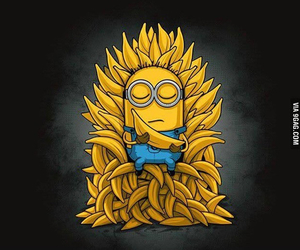minions, banana, and game of thrones image
