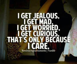 quotes, care, and jealous image