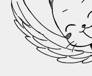 happy, blue cat, and manga image