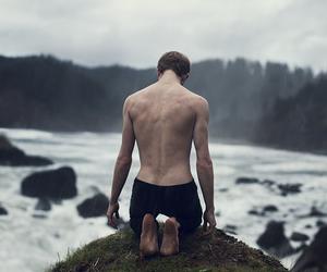 boy, nature, and dark image