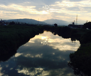 japan, river, and summer image