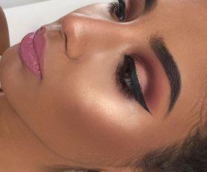 eyeliner, eyes, and hair image