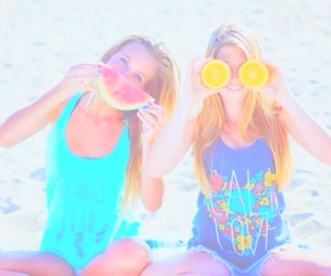 besties, pastel, and tropical filter image