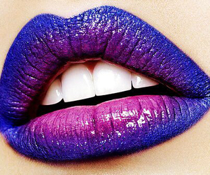lips, lipstick, and purple image