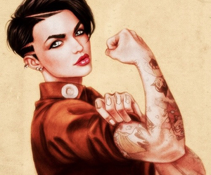 ruby rose, art, and ruby image