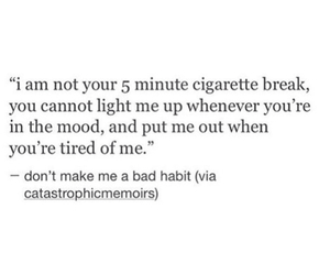 break, breakup, and cigarette image