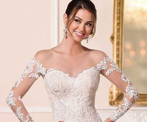 dress, bridal, and gown image