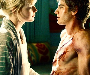 andrew garfield, emma stone, and spiderman image