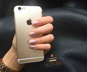 nails, phone, and gilding image