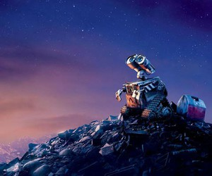 wall-e, disney, and stars image