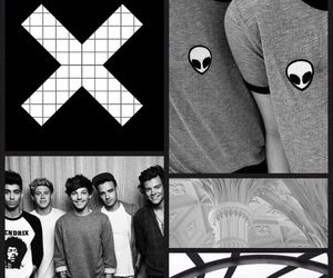 wallpaper, one direction, and black image
