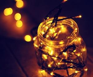 light, jar, and christmas image