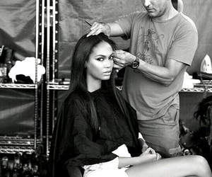 black and white, hair, and makeup image