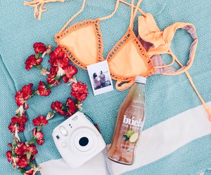 beach, vibes, and bikini image