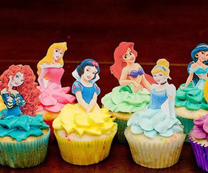 disney, cupcakes, and food image