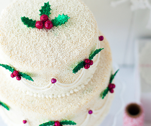 cake, peppermint, and white chocolate image