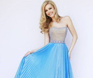 blue, fashion, and prom dresses 2015 image