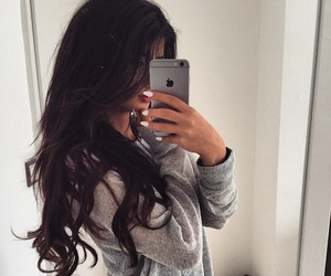 hair, girl, and iphone image