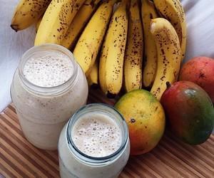 food, banana, and fruit image