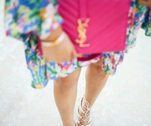 bag, colourful, and dress image