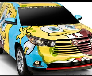car and spongebob image