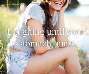 hurts, smile, and laughing image