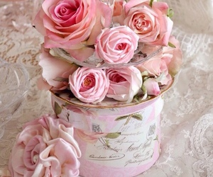 roses, vintage, and decor image