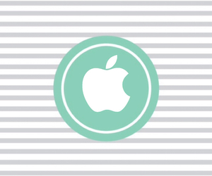 apple, wallpaper, and green & gray image