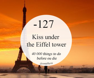 kiss, eiffel tower, and paris image