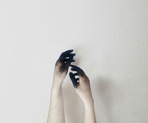 hands, black, and tumblr image