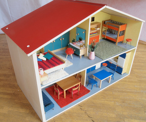 1960s, architecture, and dollhouse image