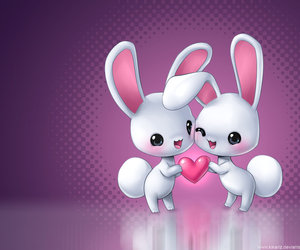 love, bunny, and heart image