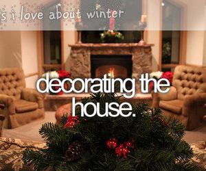 christmas, winter, and house image