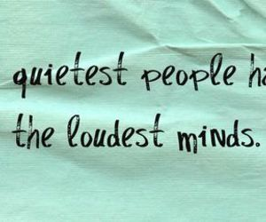 loud, silent, and mind image