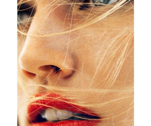 girl, blonde, and lips image
