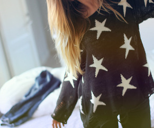 girl, fashion, and stars image
