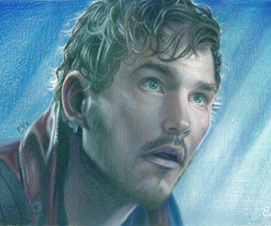 colored pencils, drawing, and chris pratt image