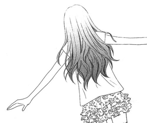 anime, manga, and black and white image